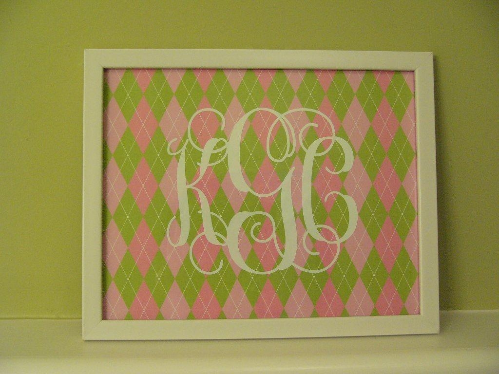 Featured Photo of Framed Monogram Wall Art