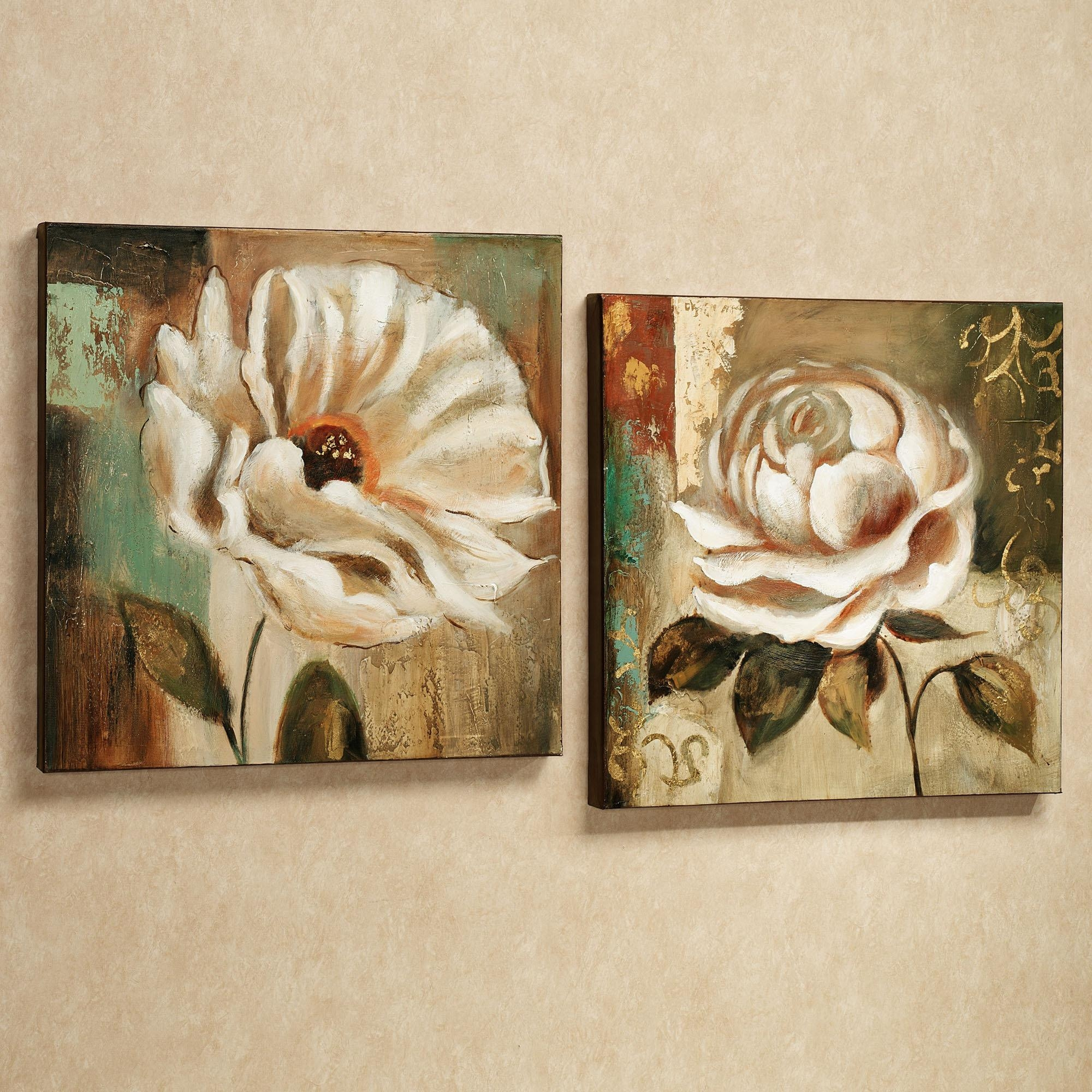 Wall Art Designs: Awesome Floral Wall Art Canvas Metal Flowers With Flower Wall Art Canvas (View 2 of 20)