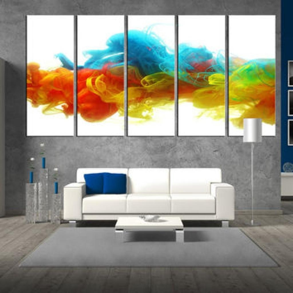 20 collection of colorful abstract wall art wall art ideas for Large colorful wall art