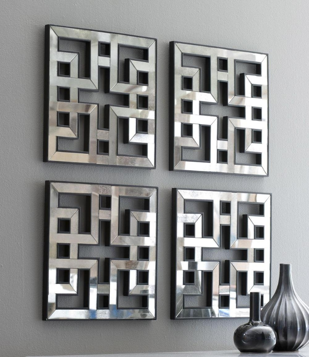 Wall Art Designs: Awesome Wall Art Mirror With Abstract Pattern Regarding Wall Art Mirrors Contemporary (View 7 of 20)