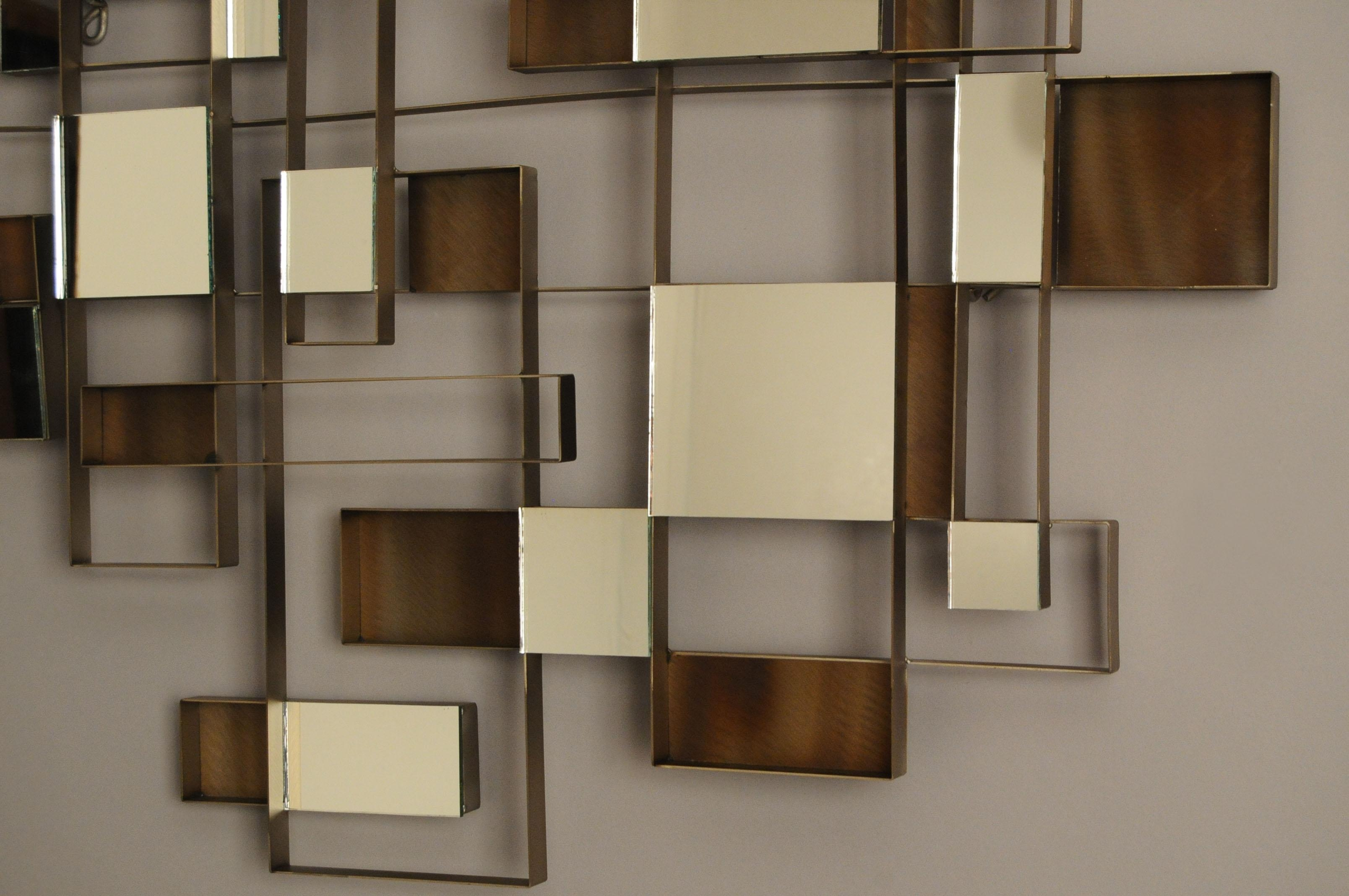 Wall Art Designs: Awesome Wall Art Mirror With Abstract Pattern With Contemporary Mirror Wall Art (View 13 of 20)