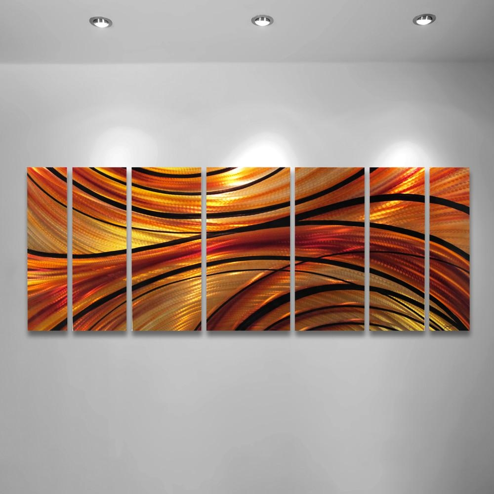 Wall Art Designs: Beautiful Orange Wall Art, Orange Abstract Art Inside Large Abstract Metal Wall Art (Image 20 of 20)