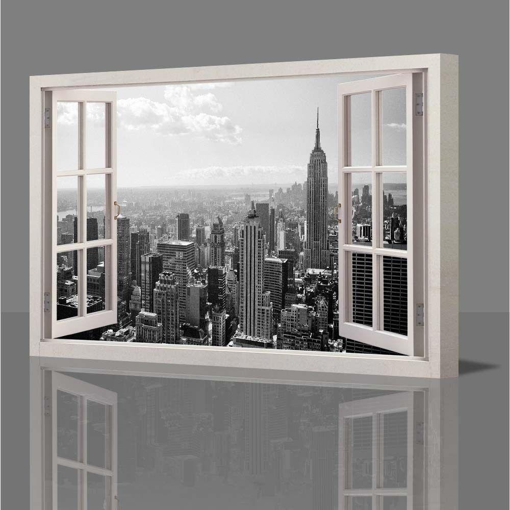 Wall Art Designs: Best New York Canvas Wall Art New York Canvas Pertaining To Black And White New York Canvas Wall Art (Image 16 of 20)