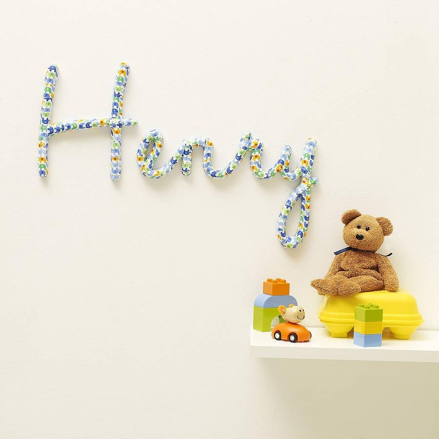 Wall Art Designs: Best Themed Personalized Wall Art For Nursery Pertaining To Personalized Wall Art With Names (Image 12 of 20)