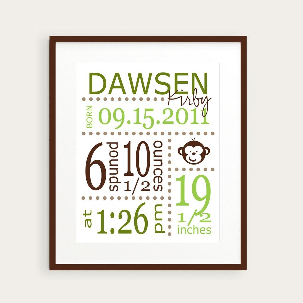 Wall Art Designs: Best Themed Personalized Wall Art For Nursery Within Personalized Baby Wall Art (Image 14 of 20)