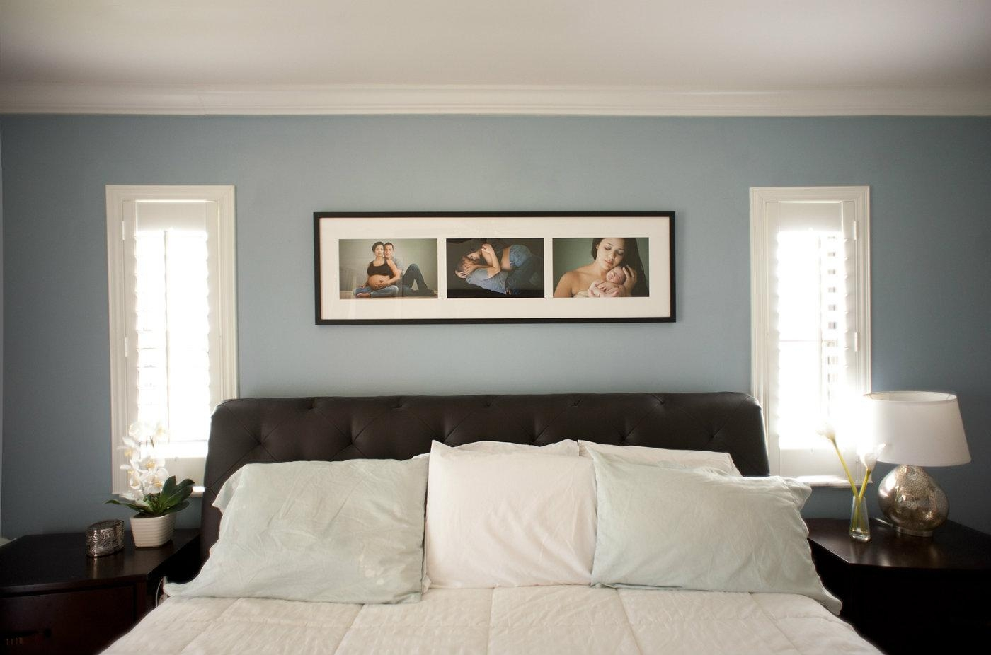 Bedroom framed wall art images for Wall of framed pictures