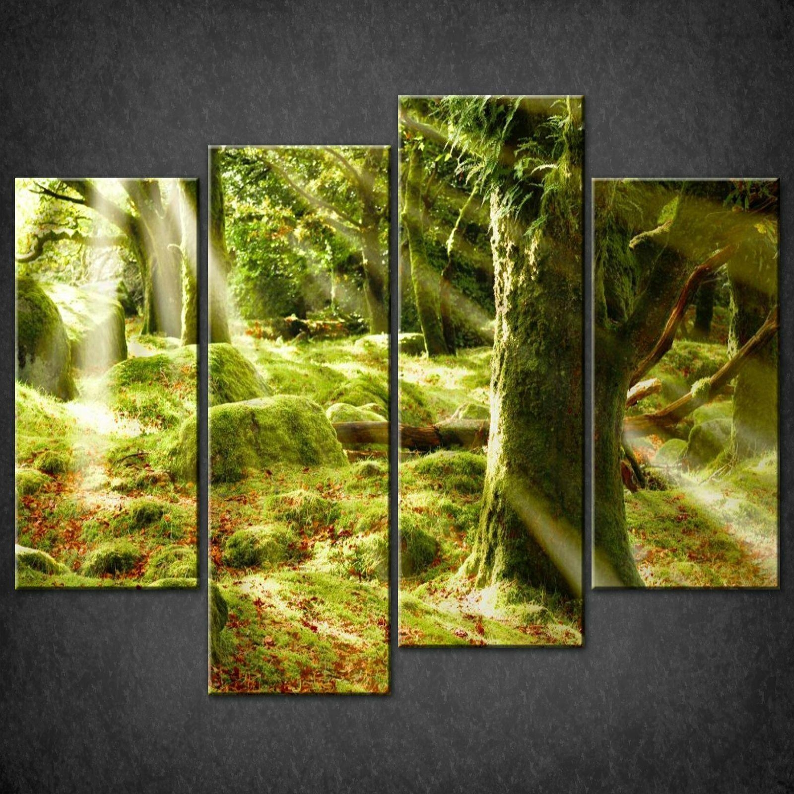 Wall Art Designs: Cool High Pixel Green Canvas Wall Art With Best Throughout Split Wall Art (View 18 of 20)