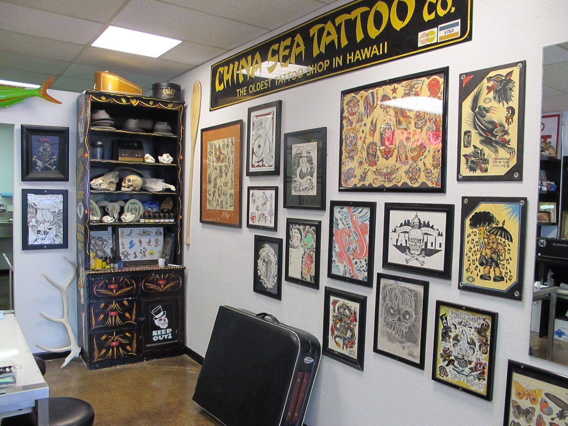 Wall Art Designs: Glamorous Tattoo Shop Wall Art From Professional Within Tattoos Wall Art (Image 18 of 20)