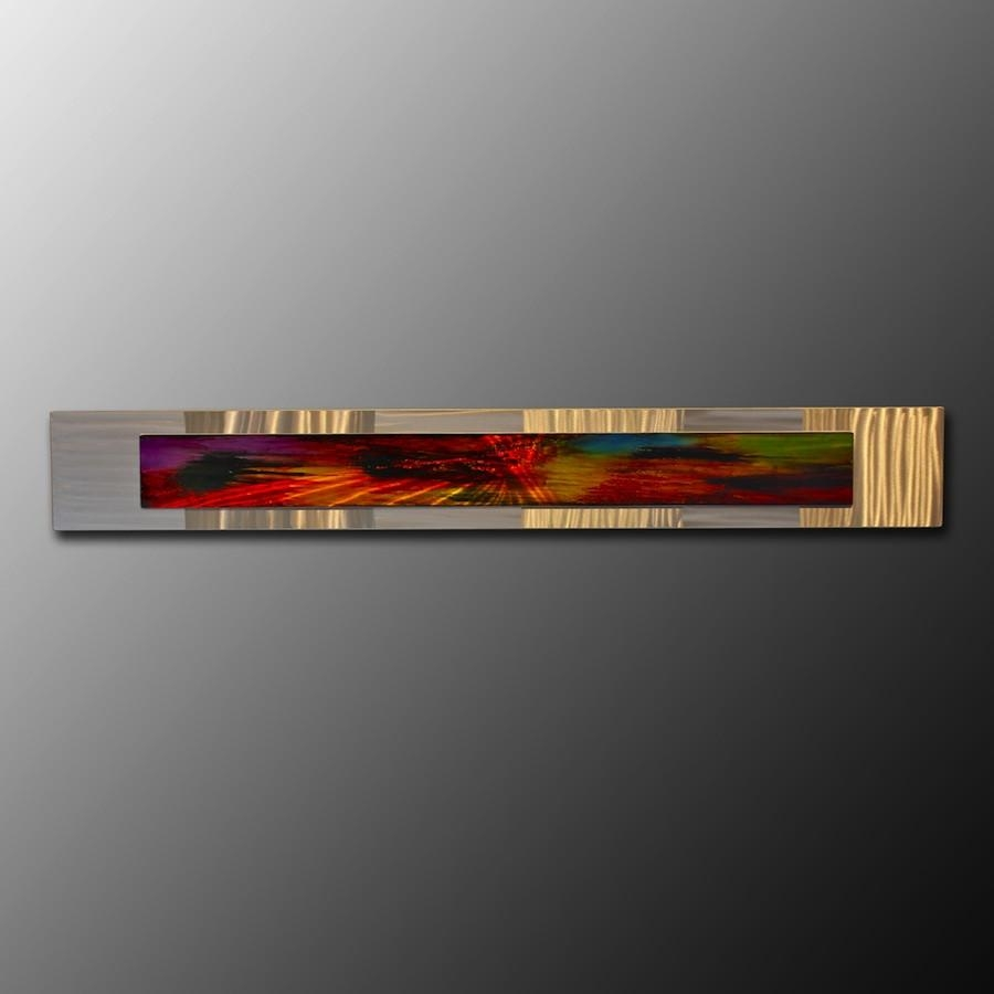 Wall Art Designs: Horizontal Wall Art Silver Frame Abstract Metal Intended For Horizontal Metal Wall Art (Image 13 of 20)