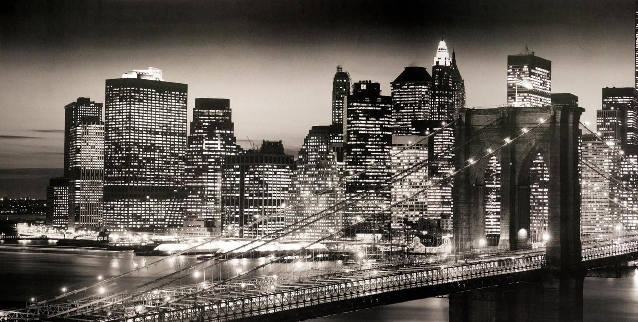 Wall Art Designs: New York Wall Art Canvas Print Home Decor Wall In Brooklyn Bridge Wall Decals (View 19 of 20)