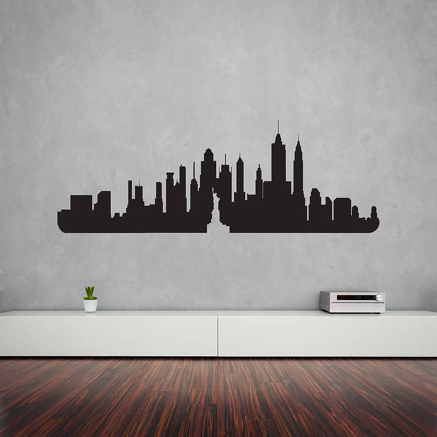 Wall Art Designs: New York Wall Art New York City Skyline Wall Art Throughout New York Skyline Canvas Black And White Wall Art (View 20 of 20)