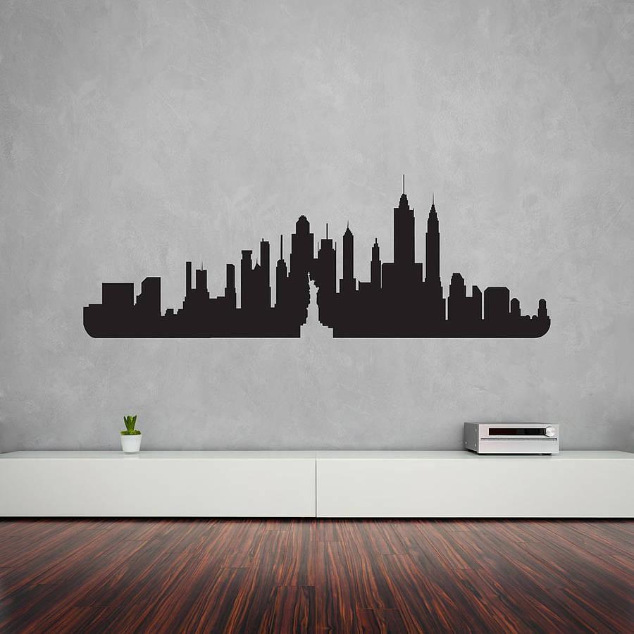 Wall Art Designs: New York Wall Art New York City Skyline Wall Art Throughout New York Skyline Canvas Black And White Wall Art (Image 17 of 20)