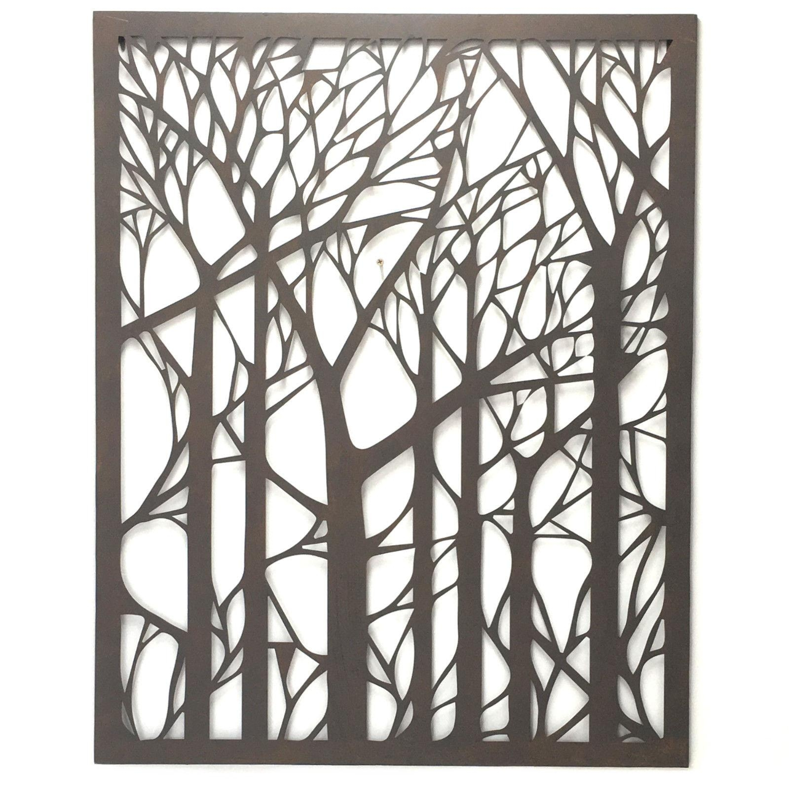 Wall Art Designs: Outdoor Wall Art Metal Tree Metal Wall Art With Regard To Wrought Iron Garden Wall Art (Image 12 of 20)