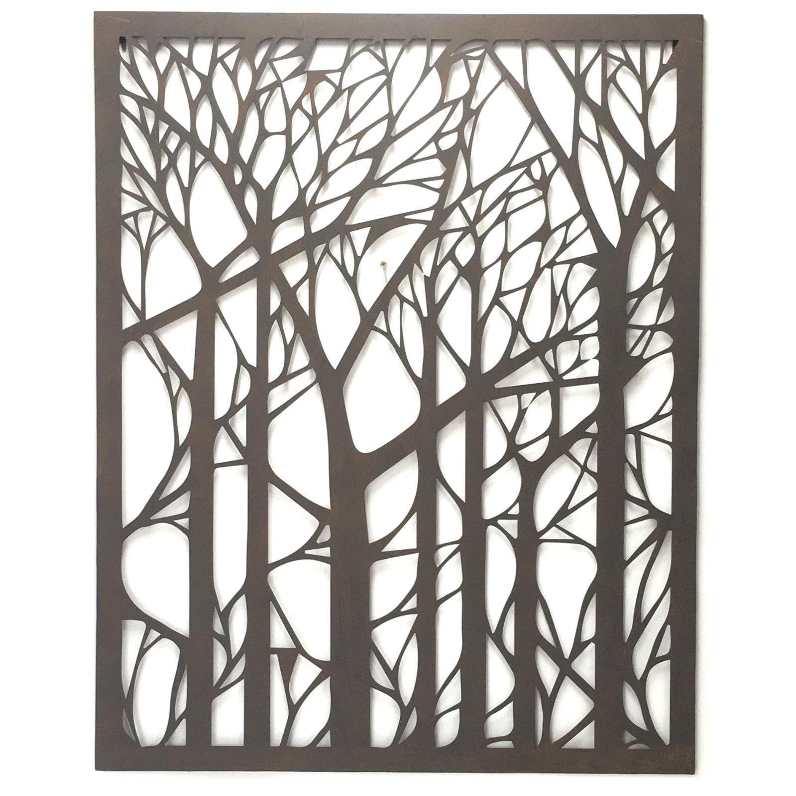 Wall Art Designs: Outdoor Wall Art Metal Tree Metal Wall Art Within Wrought Iron Tree Wall Art (View 18 of 20)