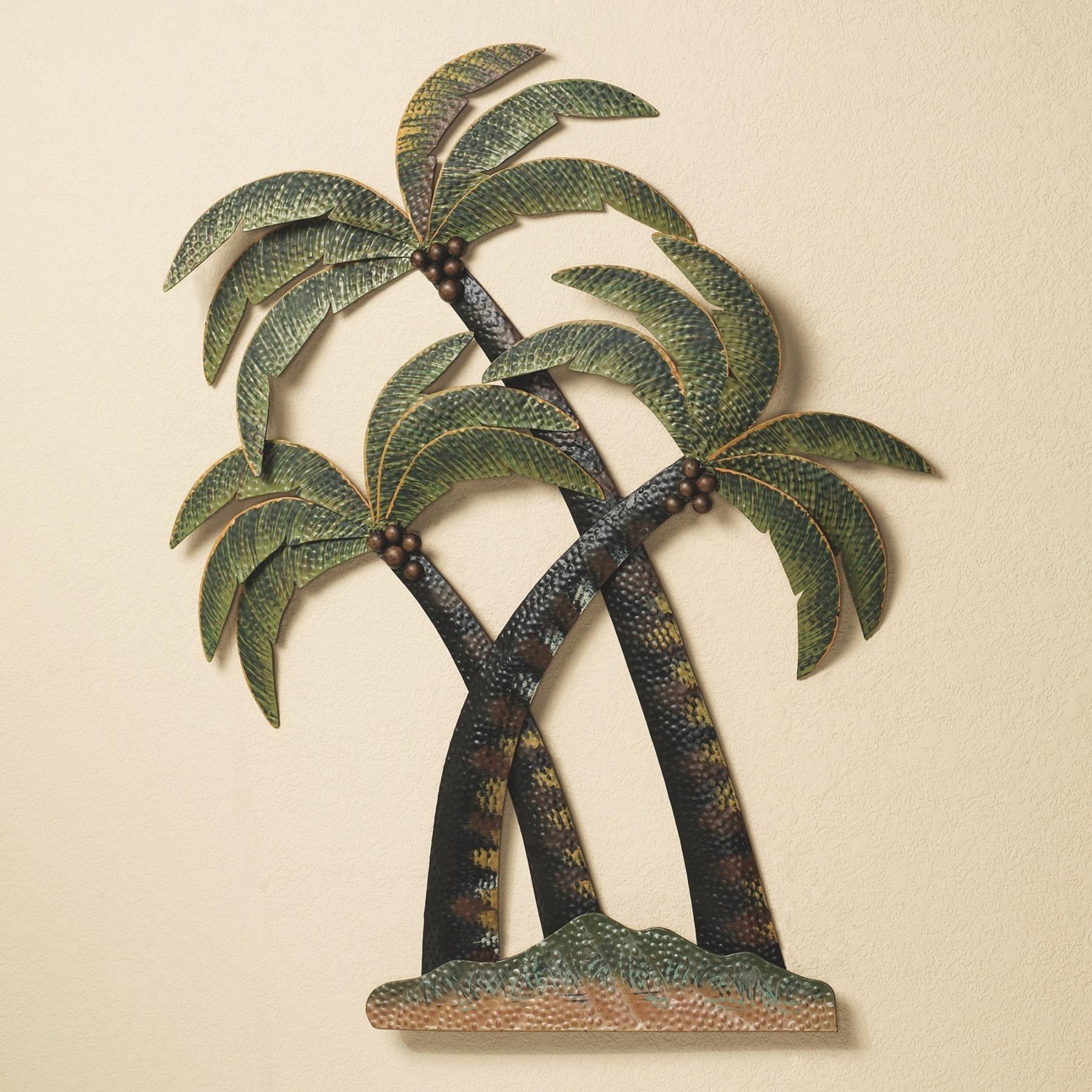 Wall Art Designs: Palm Tree Wall Art Palm Tree Bathroom Palm Trees Pertaining To Metal Wall Art For Bathroom (View 14 of 20)
