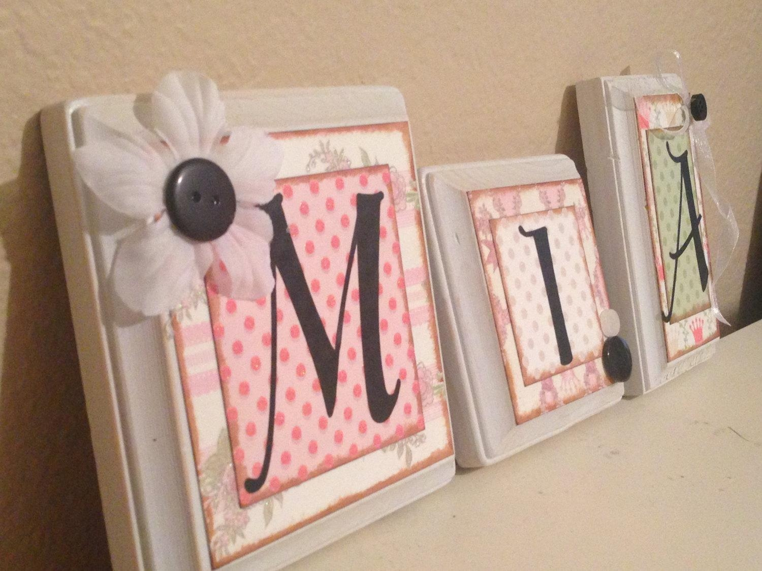 Wall Art Designs: Personalized Name Wall Art Letters Decorative With Personalized Wall Art With Names (Image 14 of 20)