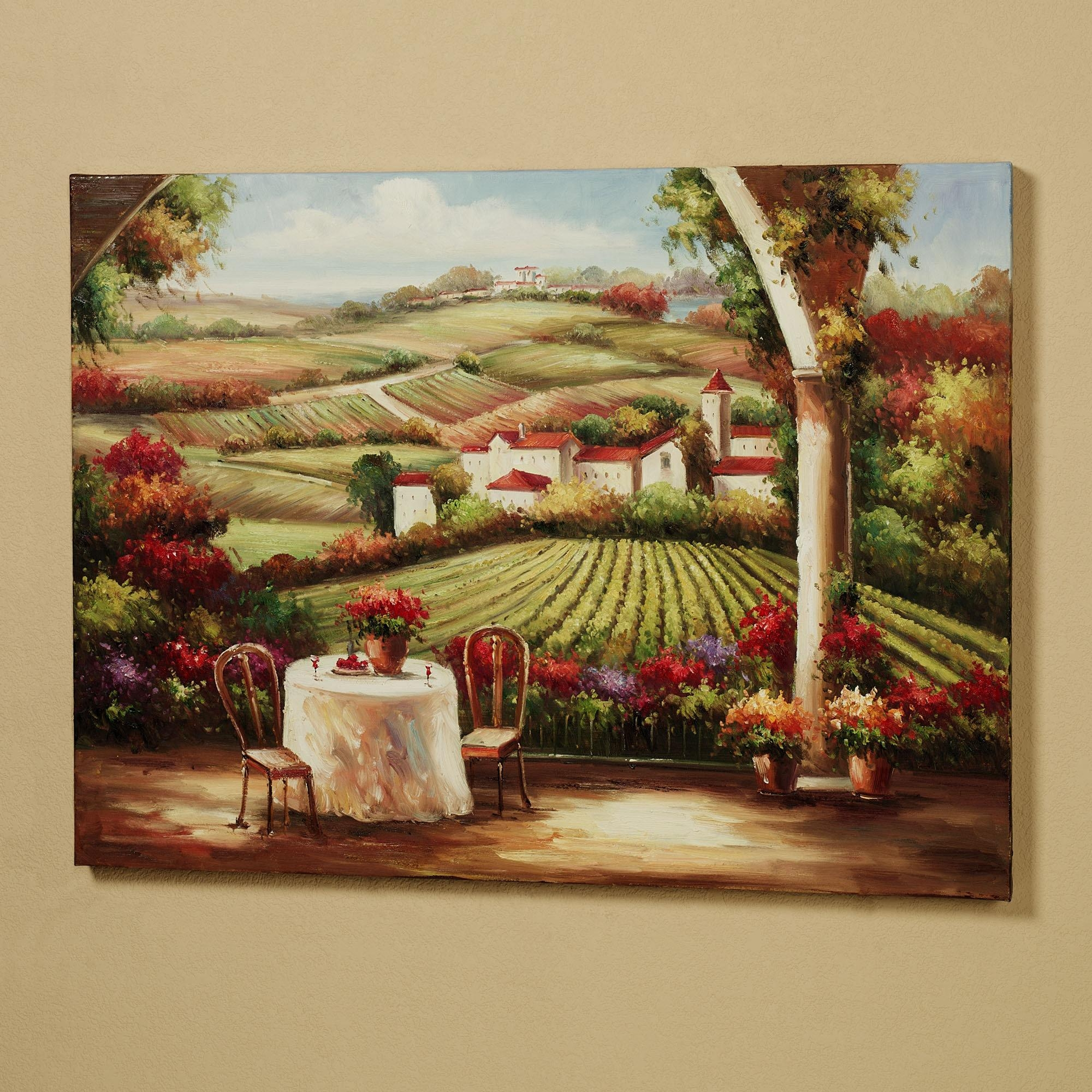 Wall Art Designs: Terrific Vineyard Wall Art Wine Decor Kitchen Inside Vineyard Wall Art (View 1 of 20)