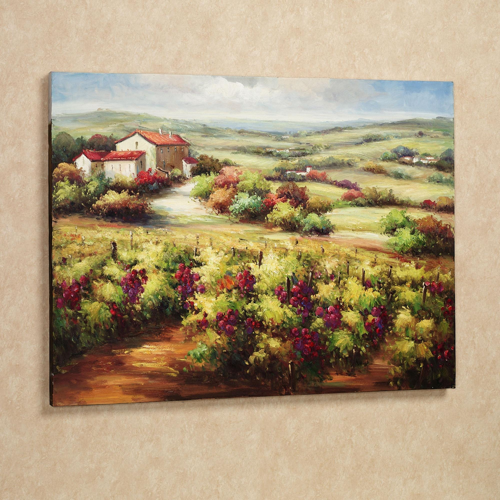 Wall Art Designs: Terrific Vineyard Wall Art Wine Decor Kitchen With Vineyard Wall Art (View 3 of 20)