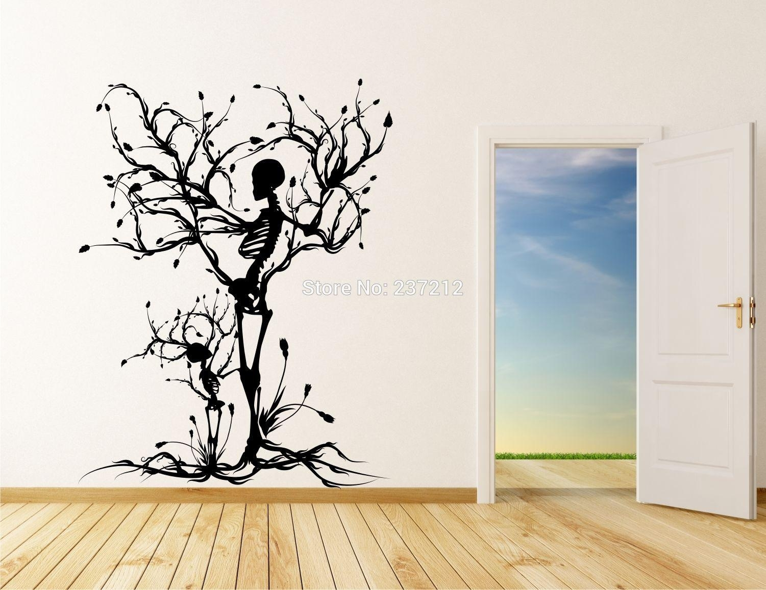 Wall Art Designs: Vinyl Wall Art Decals Popular Vinyl Tree Wall Regarding Vinyl Wall Art Tree (Image 13 of 20)