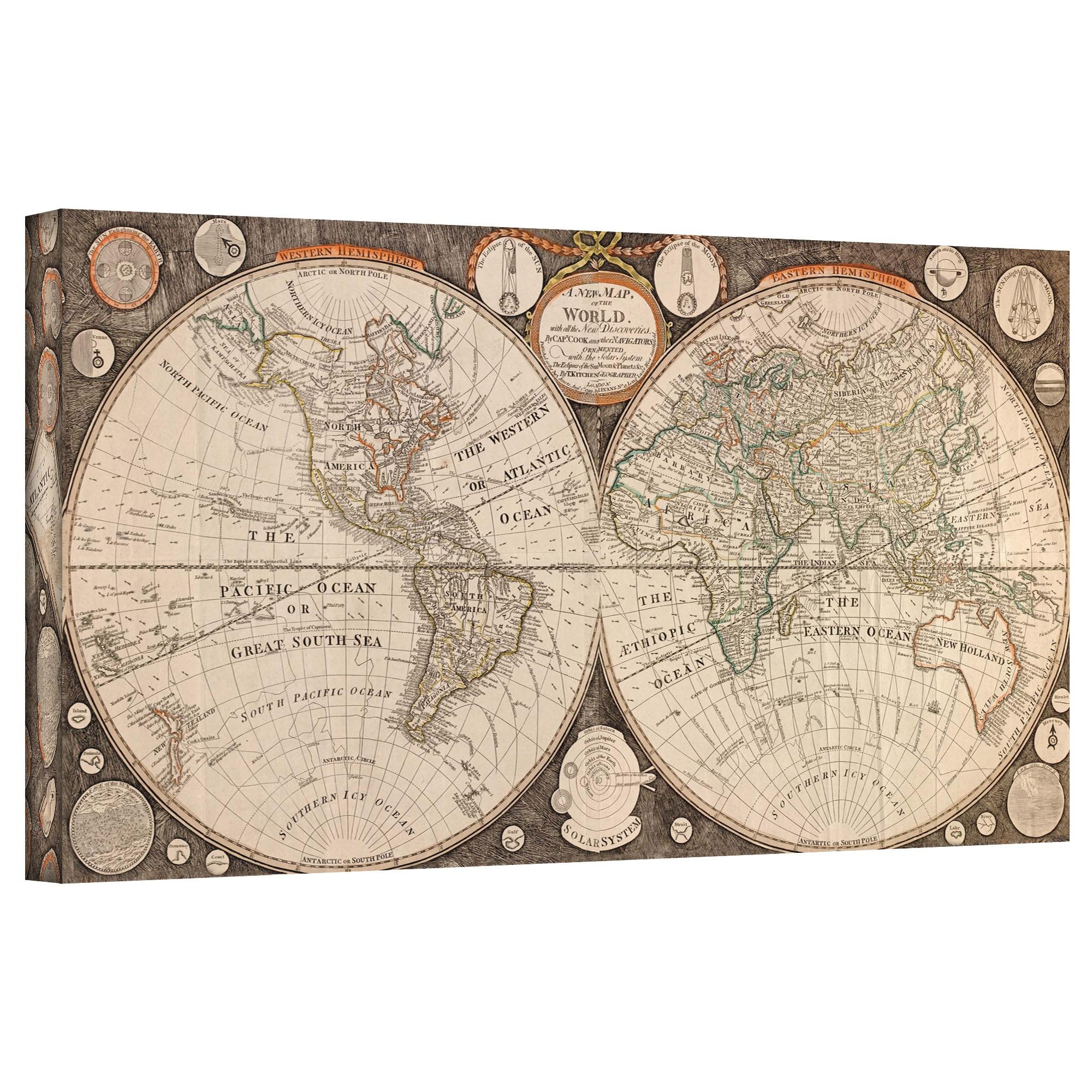 Wall Art Designs: Wonderful Home Decor Vintage Maps Wall Art For Vintage Map Wall Art (Image 18 of 20)