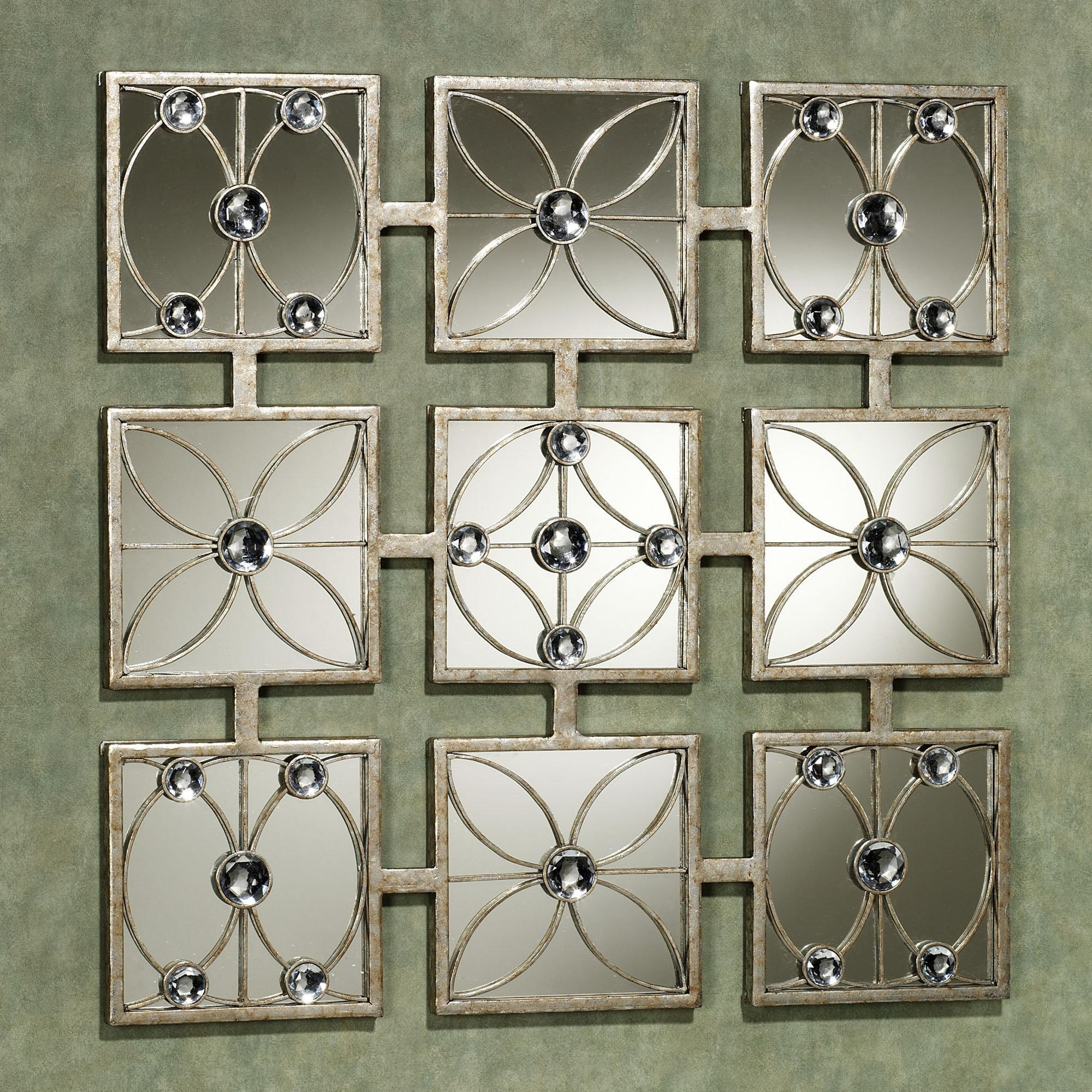 Wall Art Designs: Wonderful Wall Art Mirror From Glass With For Jeweled Metal Wall Art (Image 15 of 20)