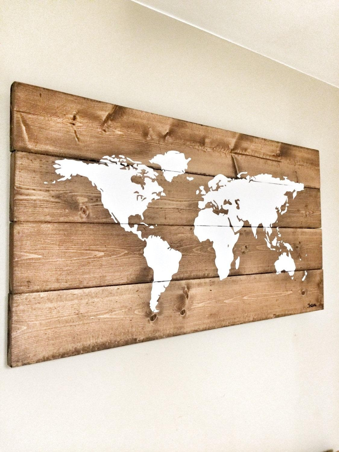 Wall Art Designs: Wooden World Map Wall Art Wooden Wall Art Rustic With Regard To Wooden World Map Wall Art (Image 11 of 20)