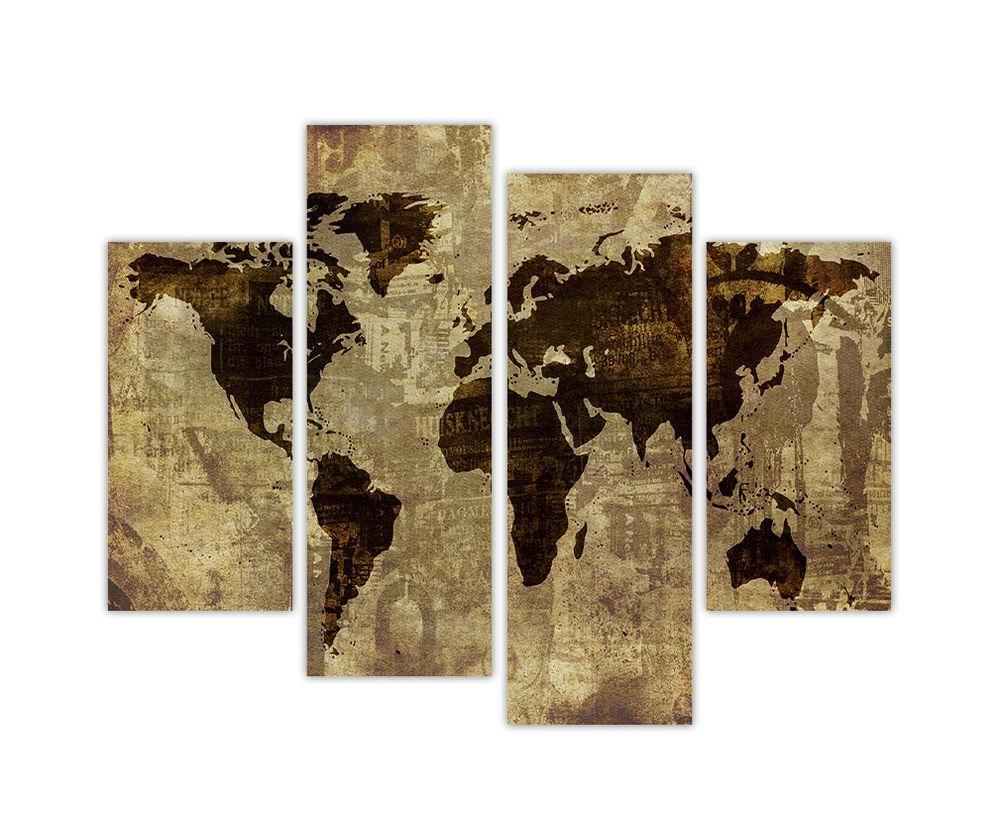 Wall Art Designs: World Atlas Wall Art Large Maps Shrugged Cover Inside Atlas Wall Art (View 6 of 20)
