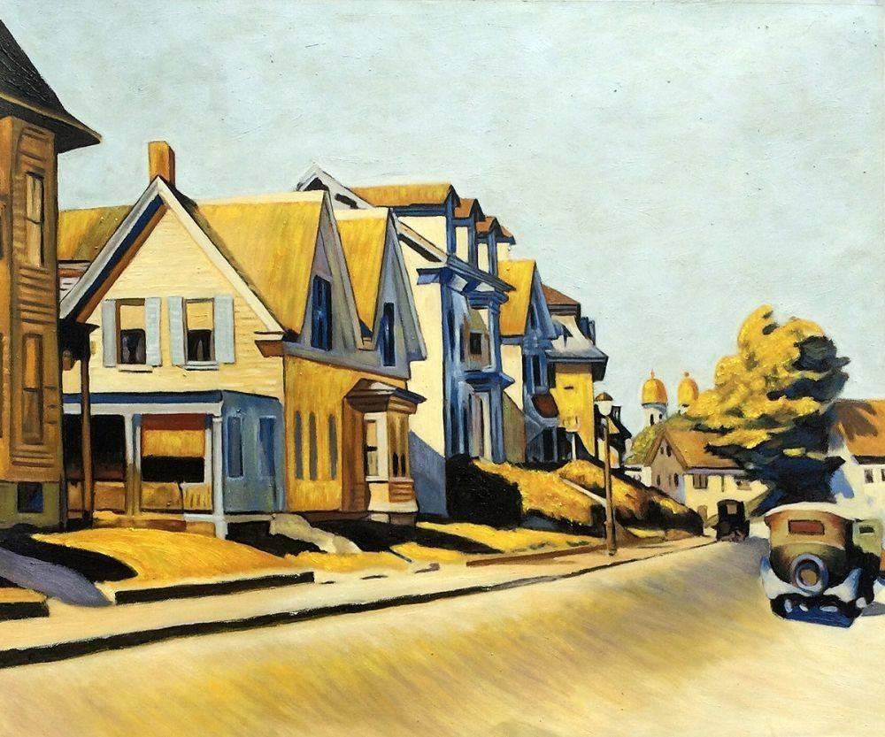 Wall Art: Edward Hopper – Street Scene, Gloucester – Reproduction Inside Street Scene Wall Art (View 20 of 20)