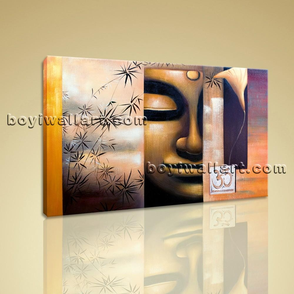 Wall Art Feng Shui Zen On Canvas Buddha Head Contemporary Abstract Regarding Large Buddha Wall Art (View 8 of 20)