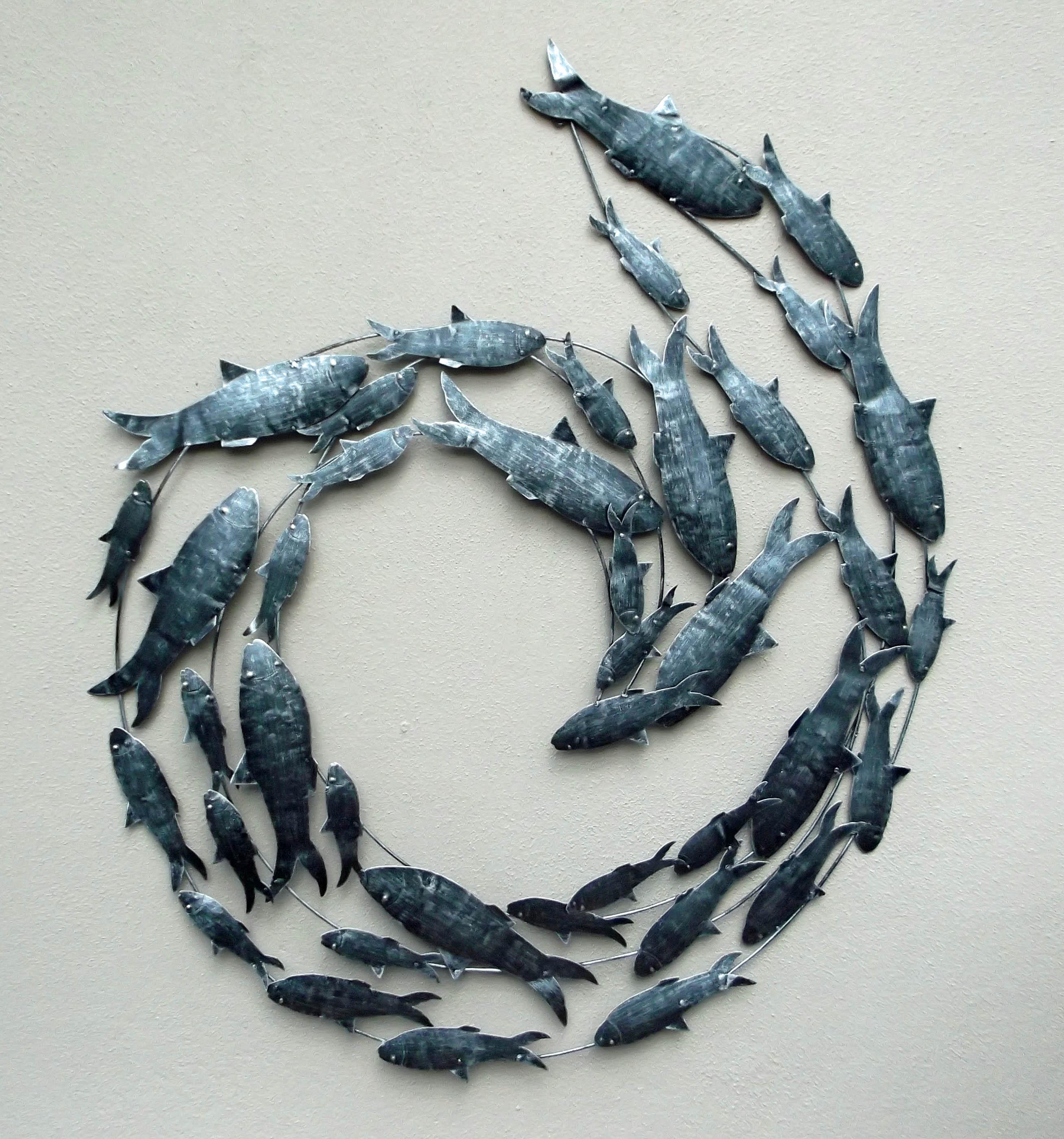 Wall Art Fish Circle – Blogstodiefor Inside Fish Shoal Wall Art (View 18 of 20)