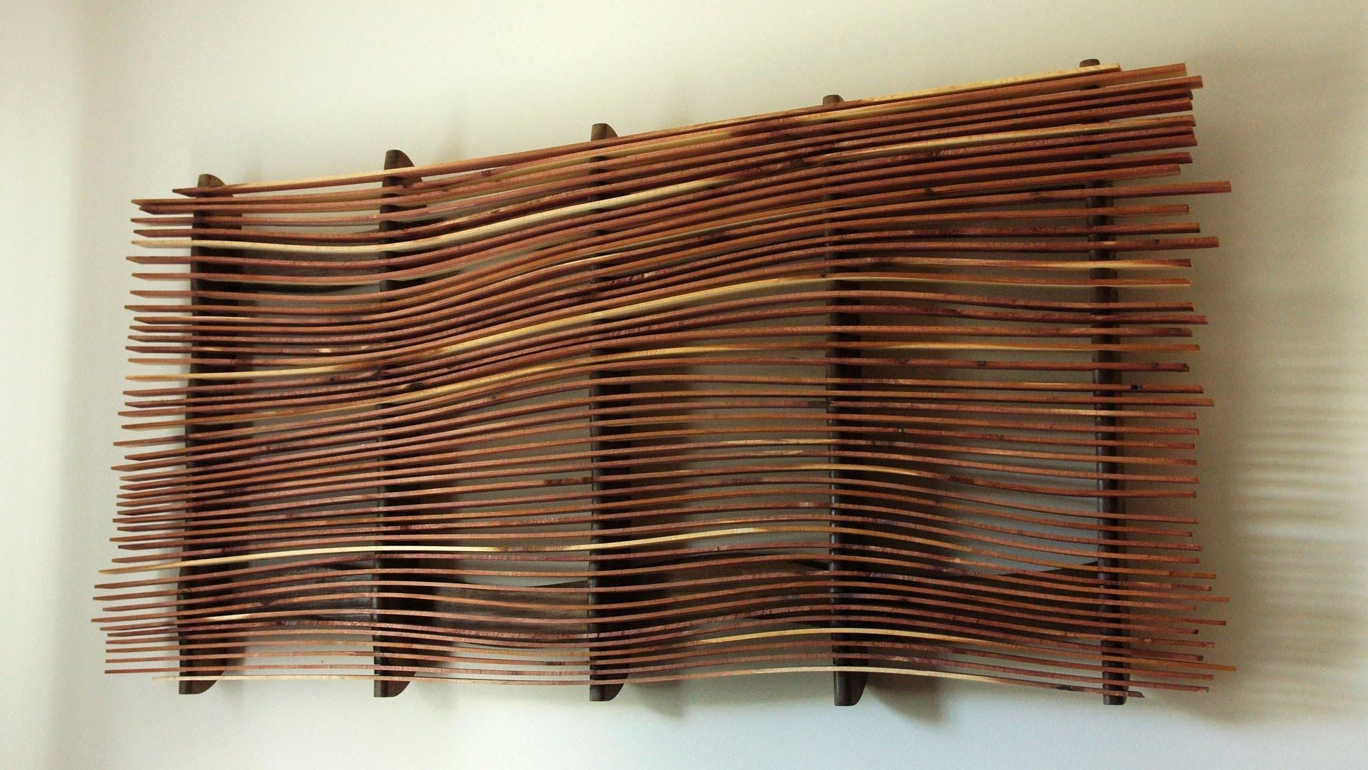 Wall Art From Scrap Wood – Youtube Regarding Wood Wall Art (View 4 of 20)
