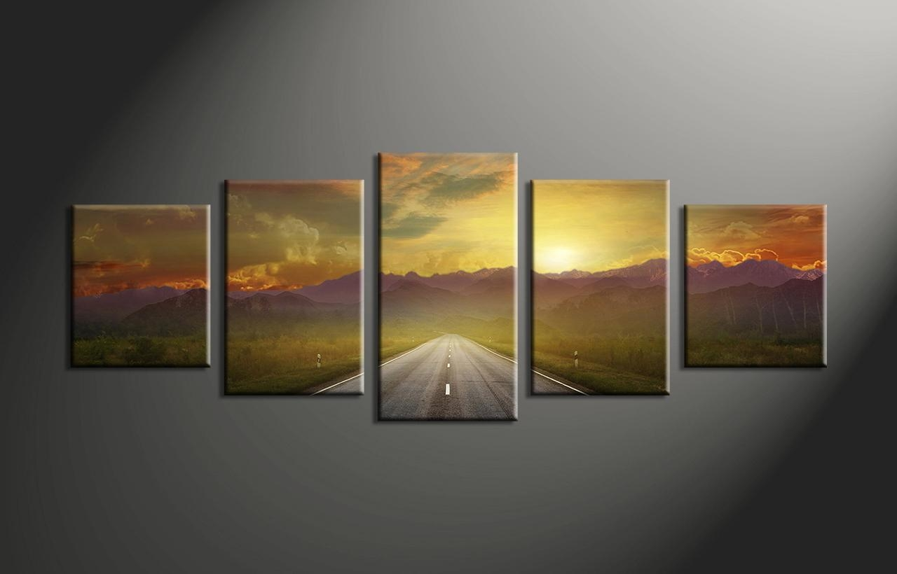 Wall Art: Glamorous Multi Panel Canvas Art Multi Panel Wall Art In Multiple Panel Wall Art (View 3 of 20)