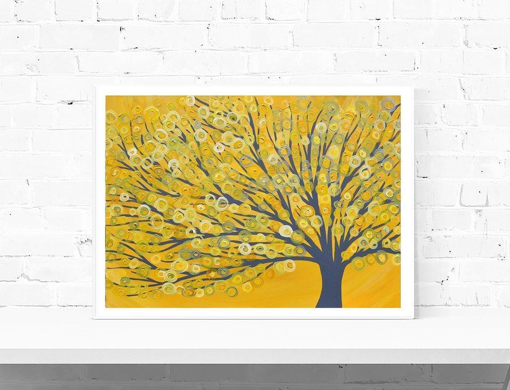 Wall Art: Glamorous Yellow And Grey Wall Art Yellow And Grey Regarding Yellow And Blue Wall Art (View 9 of 20)