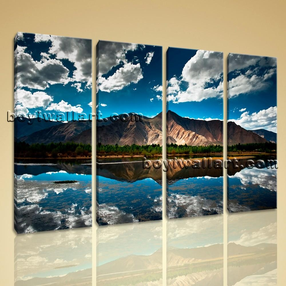 Wall Art Home Decor Print On Canvas Hd Tibet Mountain Landscape Pertaining To Canvas Landscape Wall Art (Image 20 of 20)