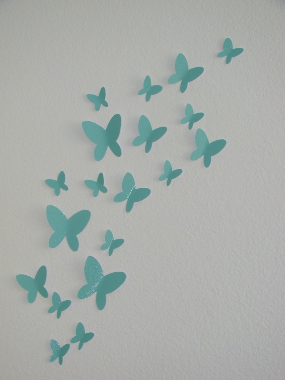 Wall Art Ideas Design : 3D Do It Your Self Simple Butterflies For Regarding Butterflies 3D Wall Art (Image 19 of 20)