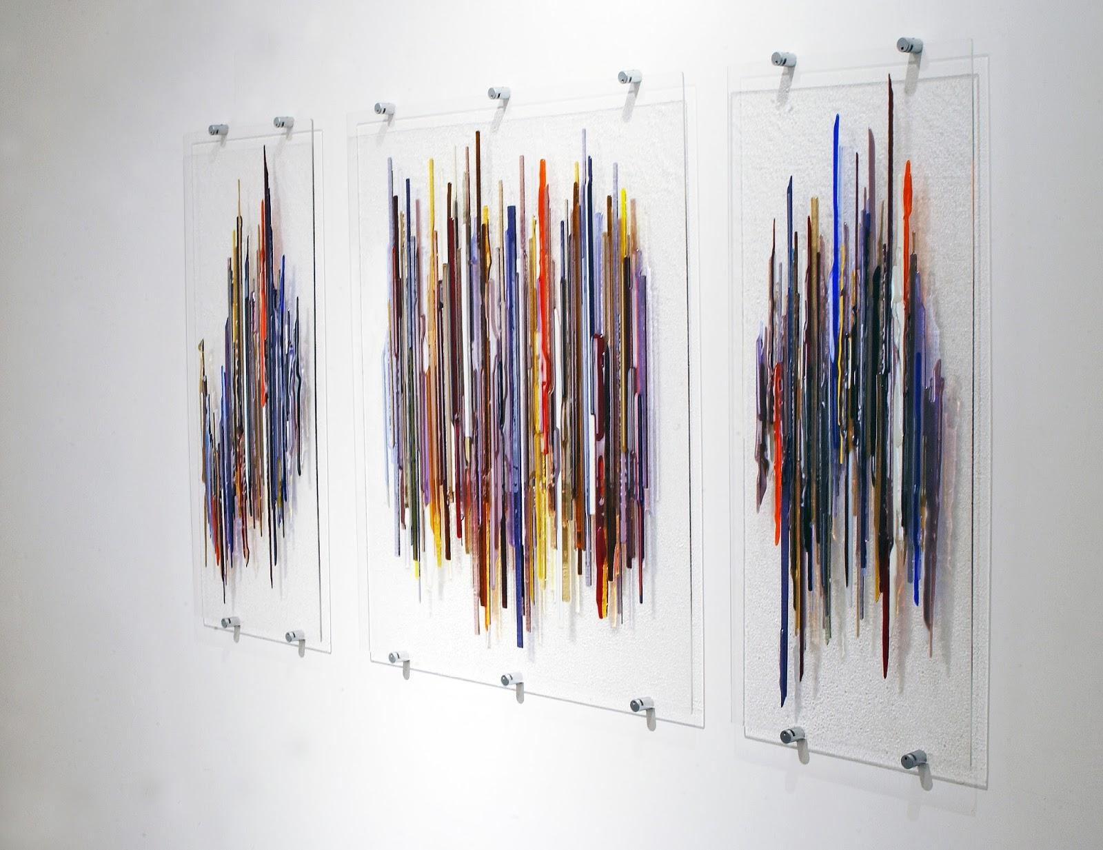 Wall Art Ideas Design : Abstract Painting Glass Wall Art Panels Regarding Fused Glass Wall Art (View 8 of 20)