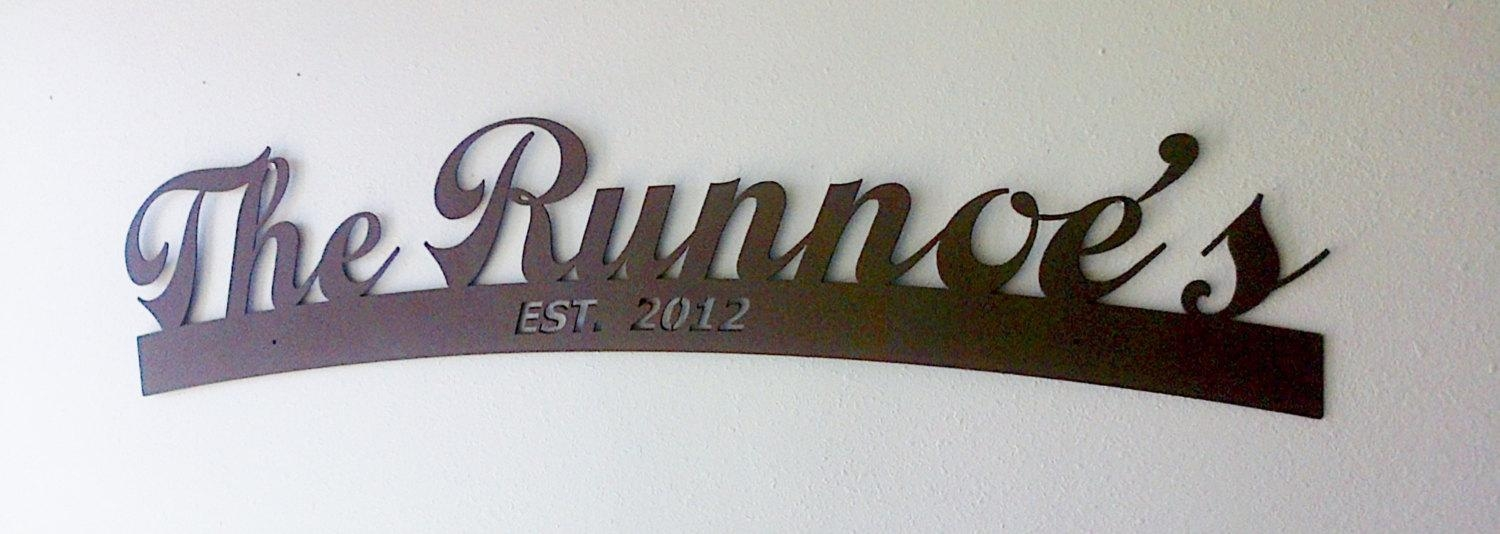 Wall Art Ideas Design : Anniversary Personalized Last Name Wall In Personalized Wall Art With Names (Image 15 of 20)