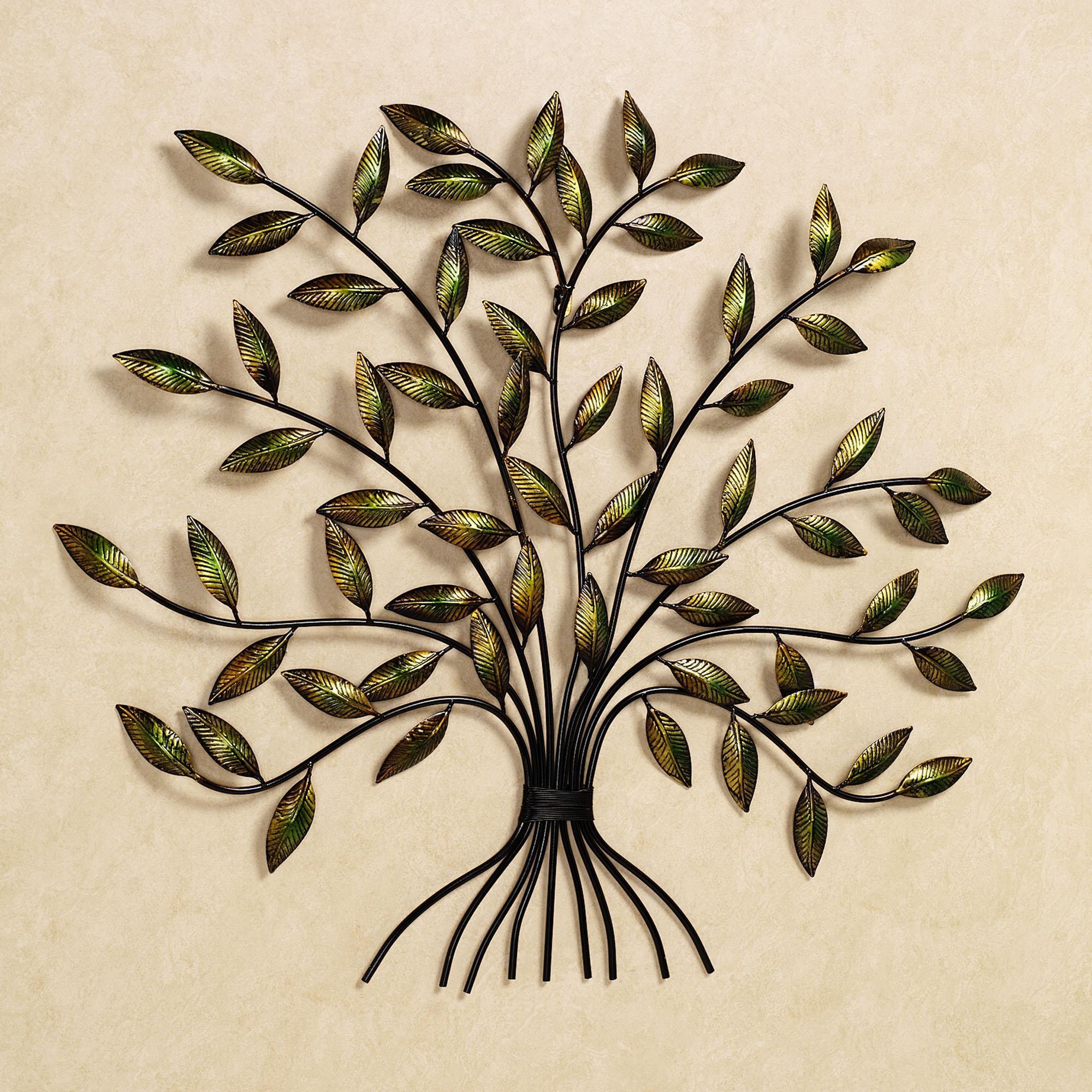 Wall Art Ideas Design : Autumn Scene Tree Metal Wall Art Sculpture For Botanical Metal Wall Art (View 19 of 20)