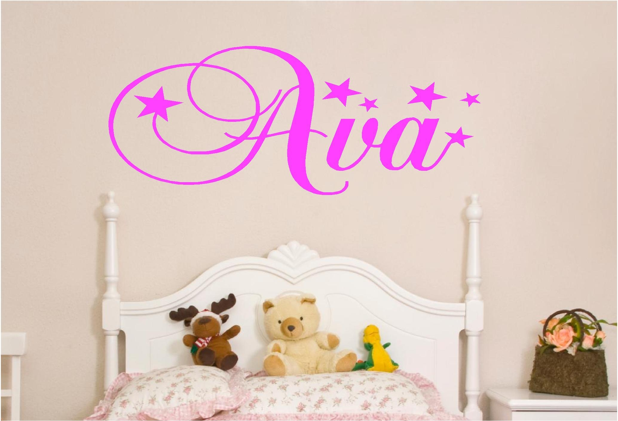 Wall Art Ideas Design : Ava Girls Wall Art Simple Stars Wallpaper With Regard To Wall Art For Girls (Image 18 of 20)