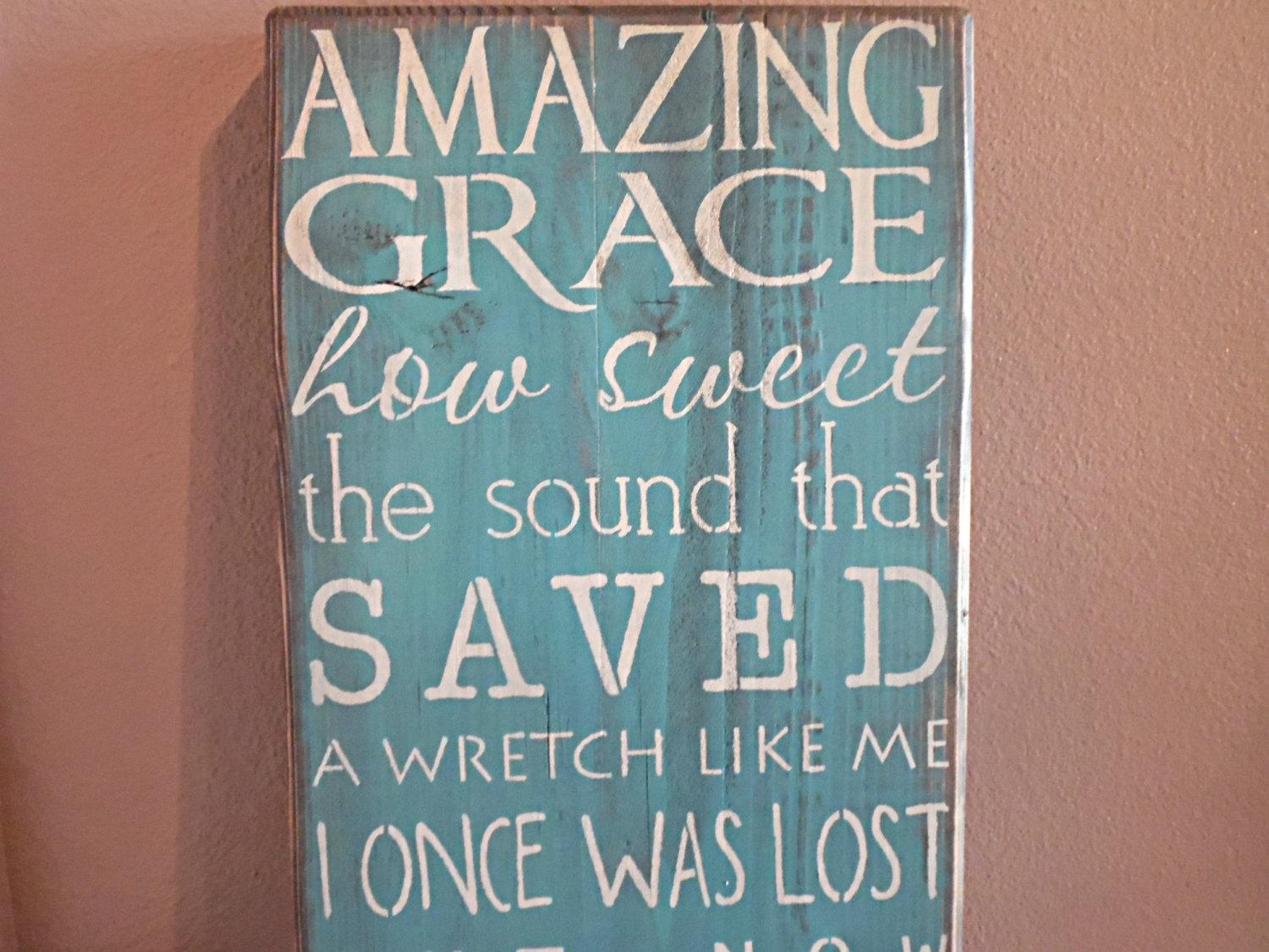 Wall Art Ideas Design : Best Amazing Grace Wall Art Amazing Grace With Regard To Grace Wall Art (View 13 of 20)