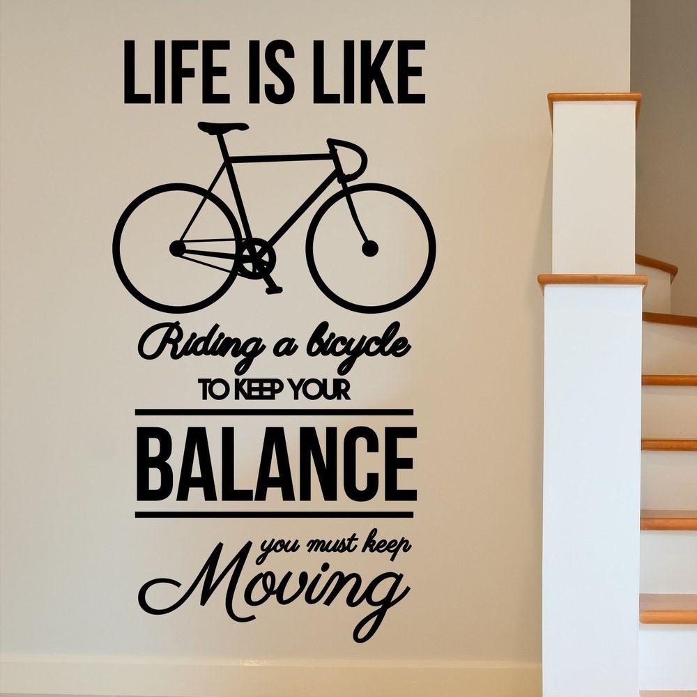 Wall Art Ideas Design : Bicycle Working Station Inspirational Wall With Large Inspirational Wall Art (Image 17 of 20)