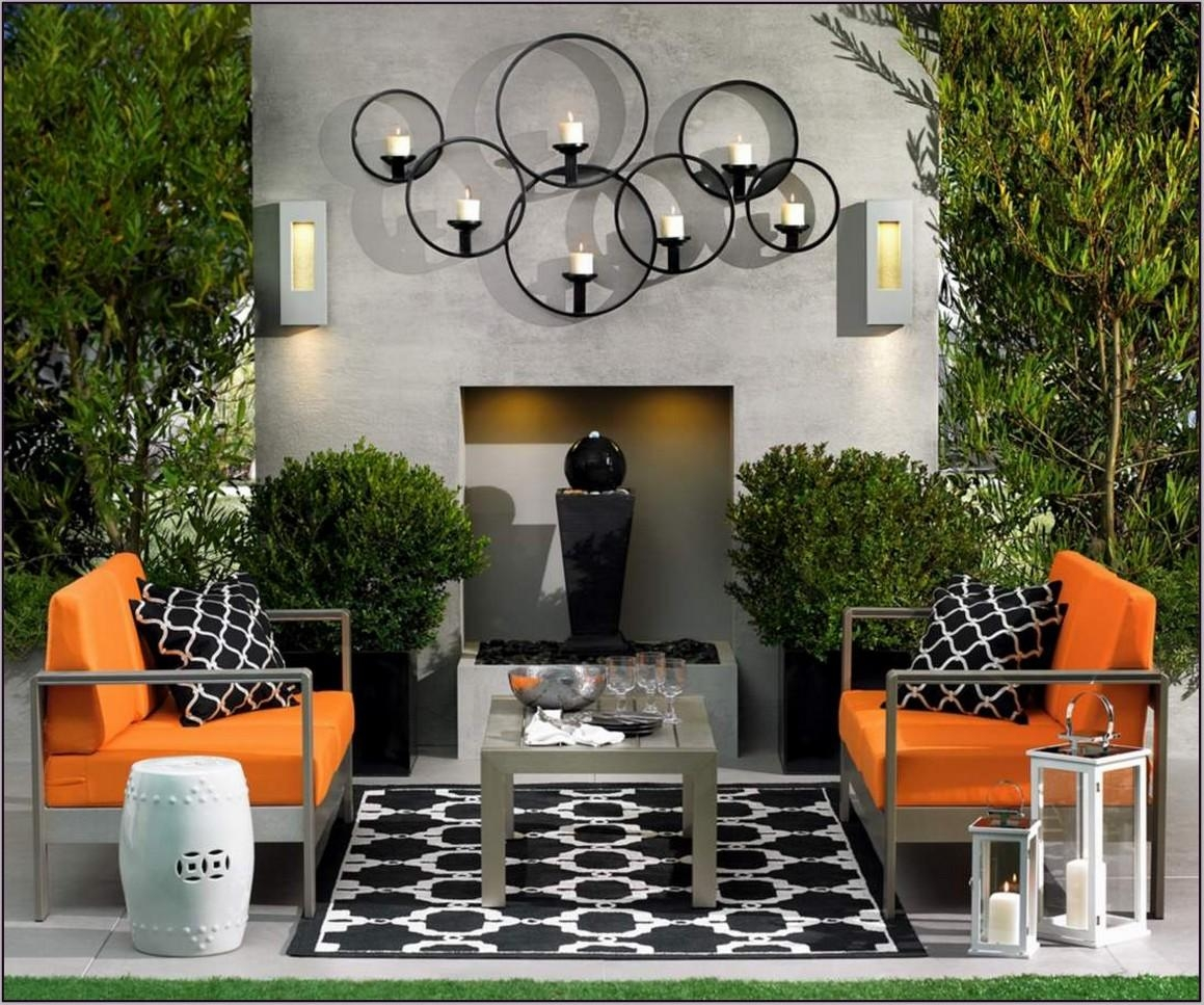 Wall Art Ideas Design : Classic Outside Wall Art Ideas Sample In Large Garden Wall Art (View 18 of 20)