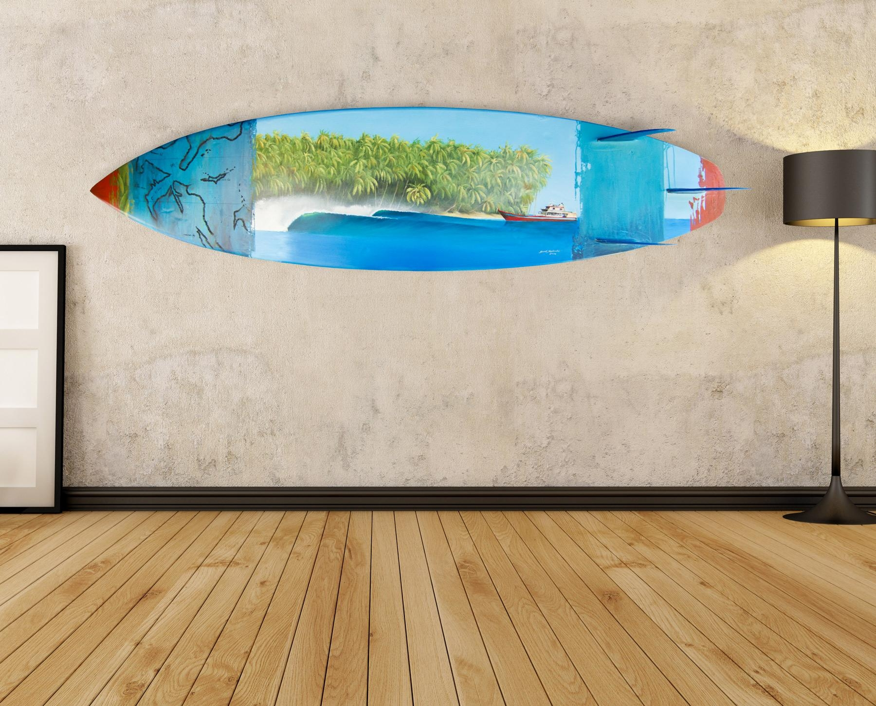 Wall Art Ideas Design : Colorful Unique Surf Board Wall Art Intended For Decorative Surfboard Wall Art (Image 15 of 20)