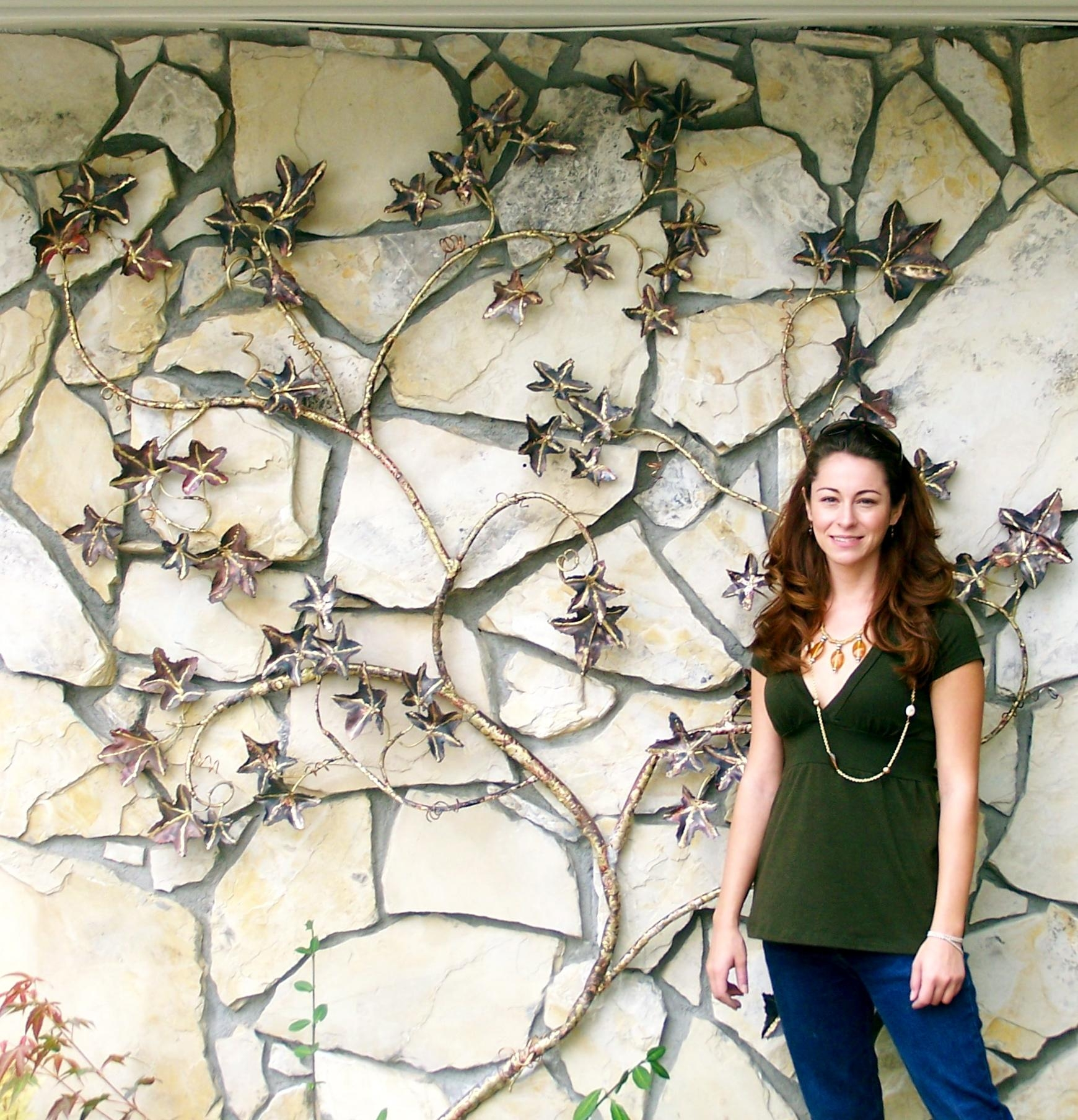 Wall Art Ideas Design : Creative Grapevines Copper Outdoor Wall Intended For Copper Outdoor Wall Art (Image 19 of 20)