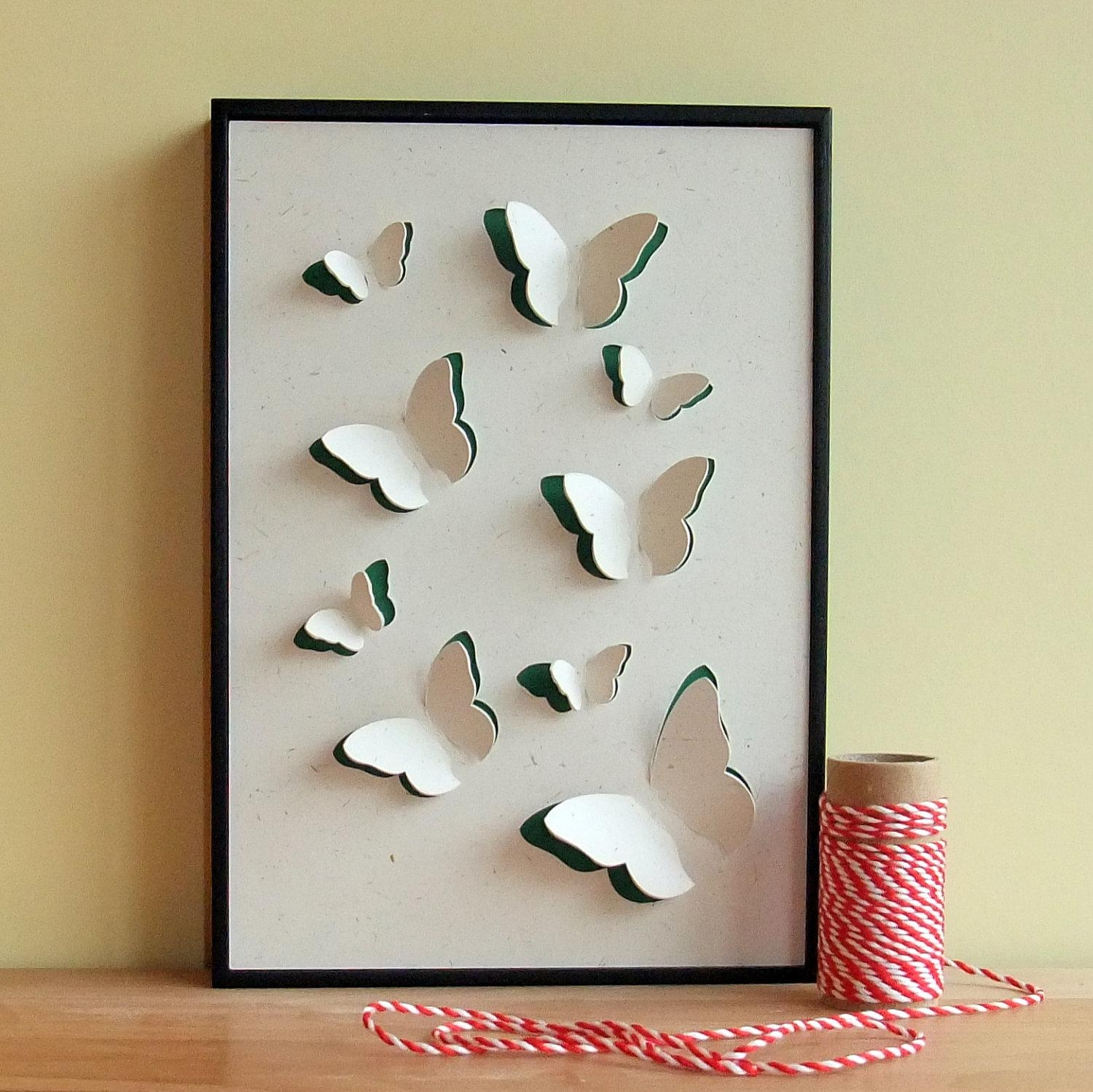 Wall Art Ideas Design : Diy Easy To Make 3D Paper Wall Art Regarding 3D Paper Wall Art (Image 20 of 20)