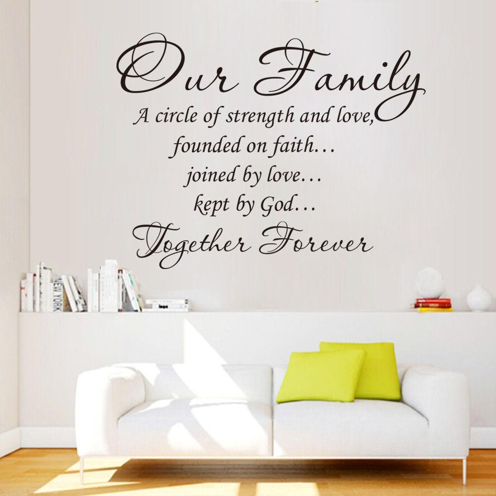 Wall Art Ideas Design : Family Quotes Wall Art Words Contemporary With Modern Vinyl Wall Art (Image 18 of 20)