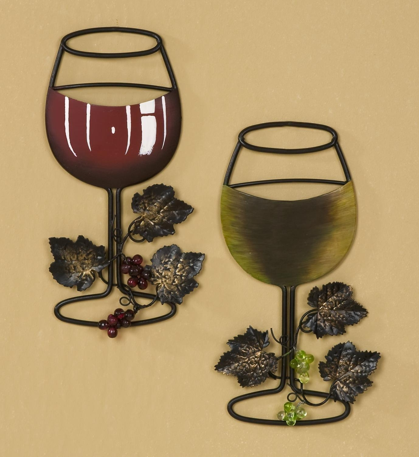 Wall Art Ideas Design : Filled Wine Decor Wall Art Sample Green Regarding Wine Metal Wall Art (Image 16 of 20)