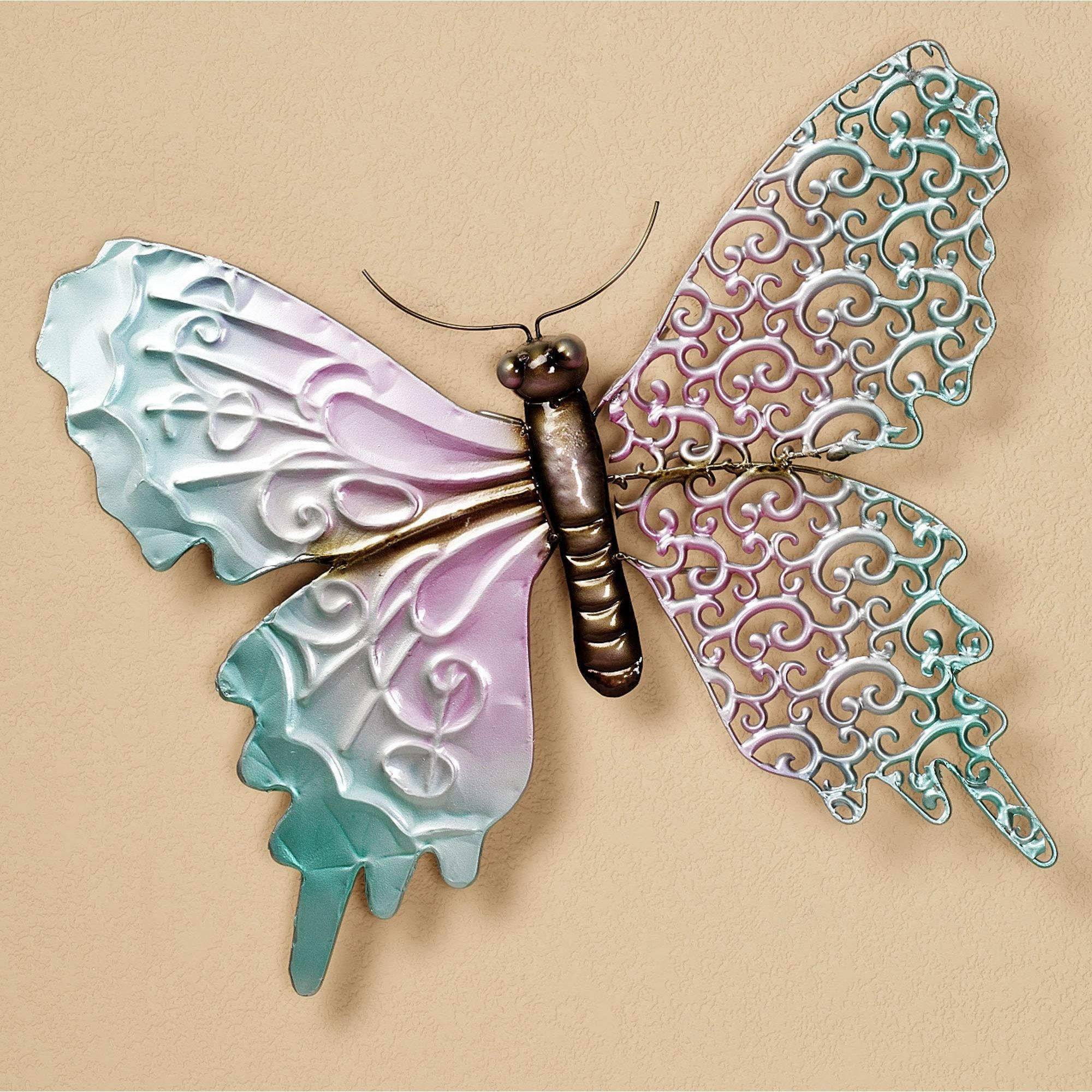 20 choices of large metal butterfly wall art wall art ideas for Butterfly design on wall