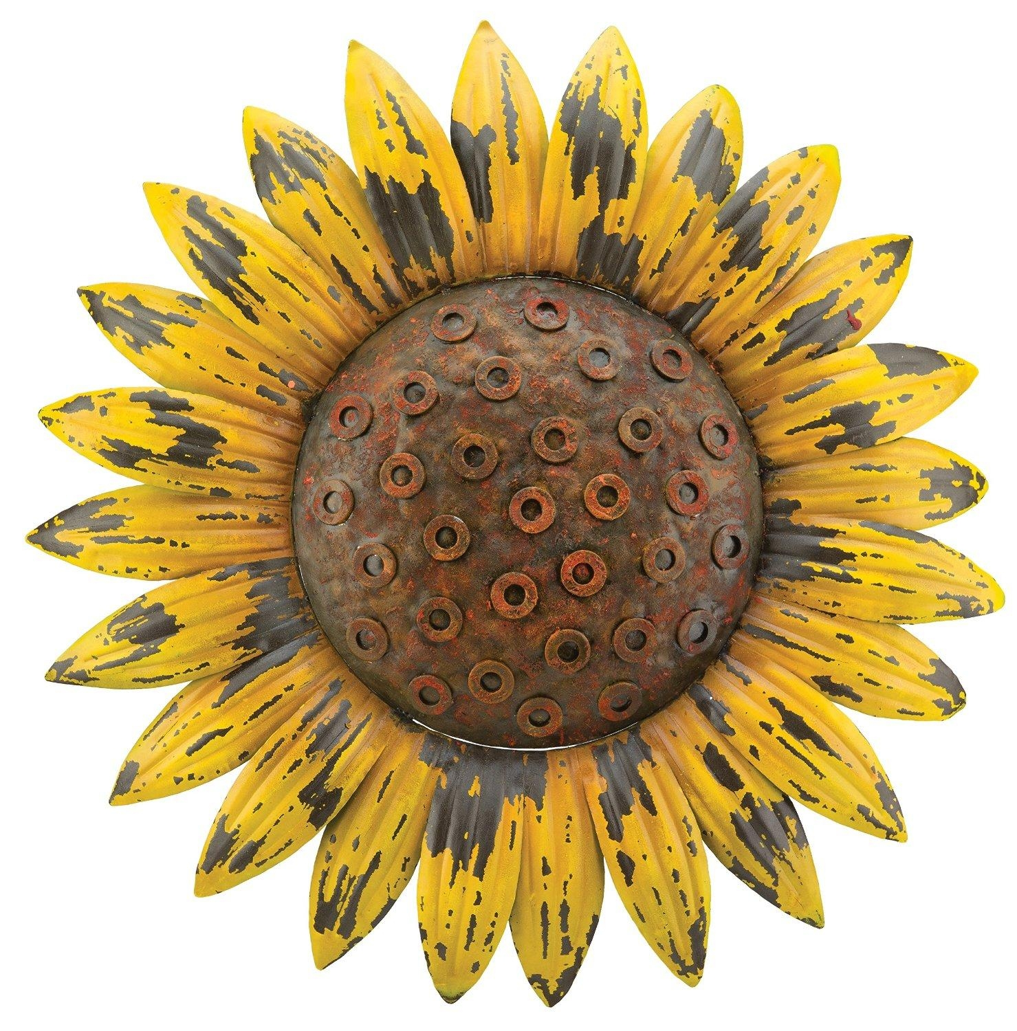 Wall Art Ideas Design : Hallway Bouquet Metal Sunflower Wall Art Inside Metal Sunflower Yard Art (Image 20 of 20)
