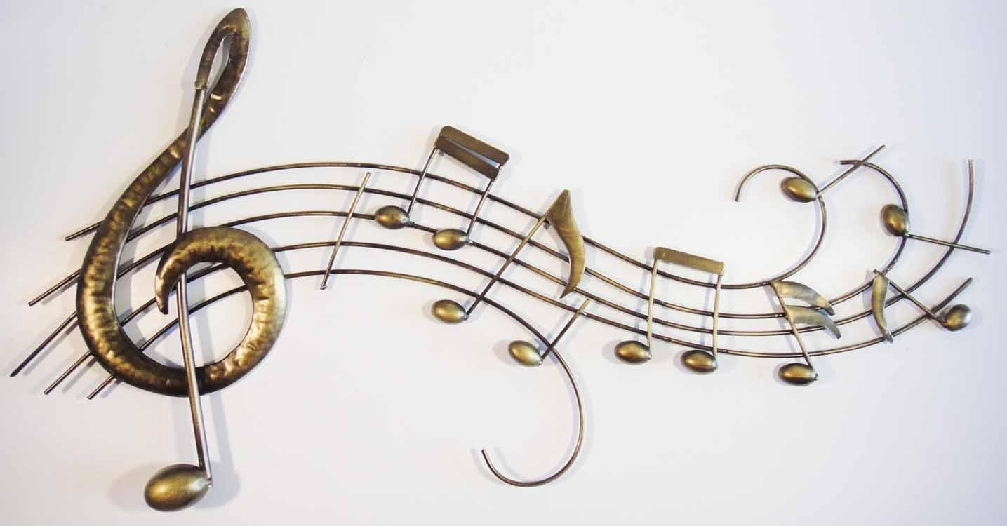 Wall Art Ideas Design : Harmony Golden Music Wall Art Color Design Within Music Theme Wall Art (Image 15 of 20)
